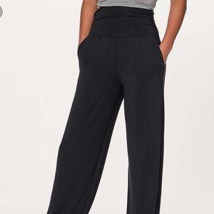 "Lululemon Take it Easy Pants 35"" Black"